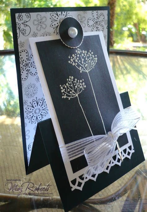 handmade card  all things Moz: Fancy Folds   fun stand