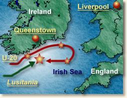 lusitania map
