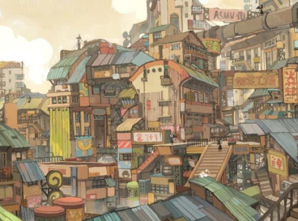 アフリカの小学校の教科書でイラスト説明されてる大阪 住宅街へのボケ