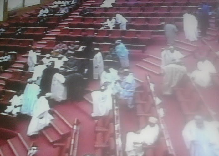 Rowdy session as PDP senators prevent colleague from defecting to APC