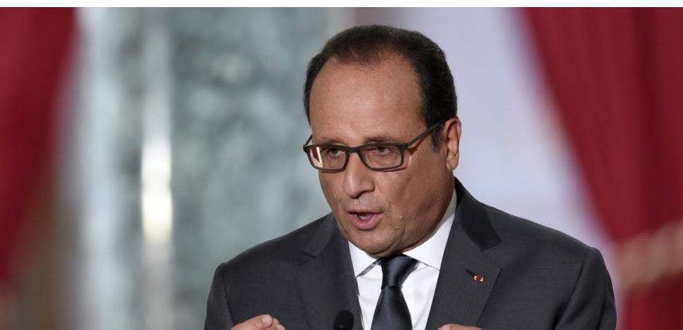 François Hollande, lors de sa 6e conférence de presse, le 7 septembre 2015 (ALAIN JOCARD / AFP)