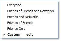 Facebook Status Update Share Customization