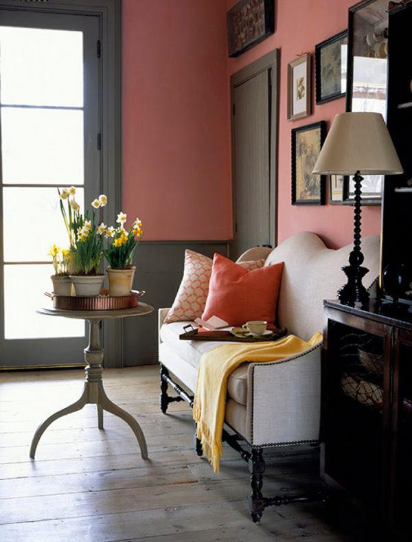 Color Scheme: Gray Pink Interior Design Ideas ...