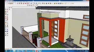 desain rumah minimalis ukuran 8x11 meter - sekitar rumah