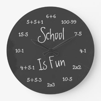 Fun School Is Fun Geek Math Wall Clock