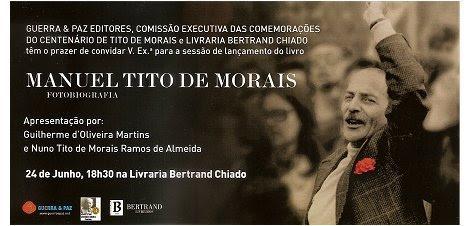 Convite Fotobiografia Guerra e Paz Bertrand CCTM