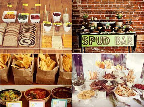 Baked Potato Bar Wedding Savoury wedding food station