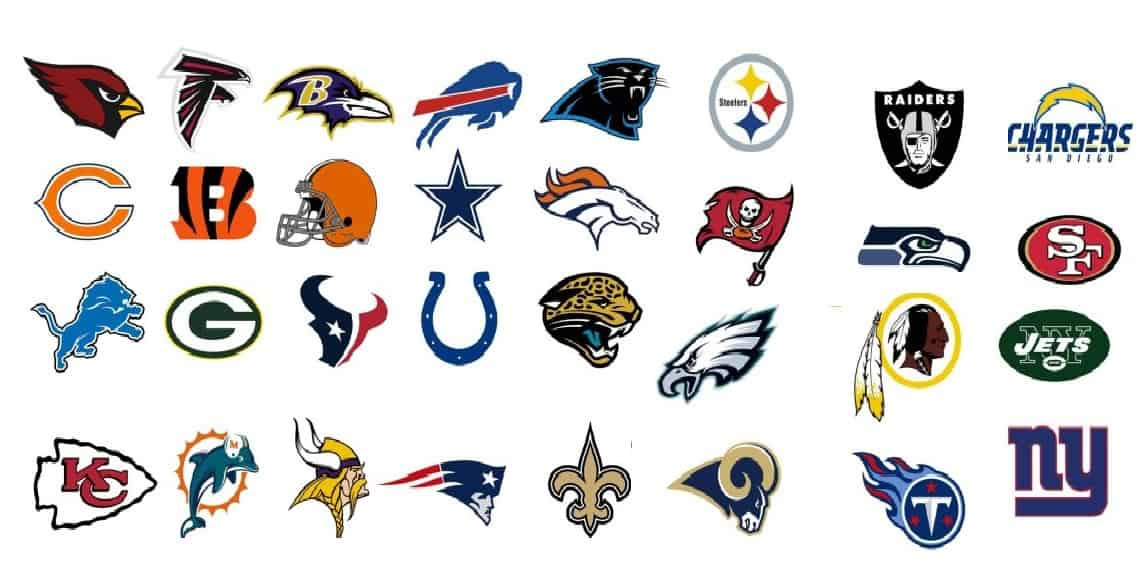 NFL Teams in Alphabetical Order/(ABC) Order at Sportschapic.com