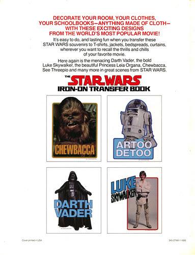 Star Wars Iron-On Transfer Book 036