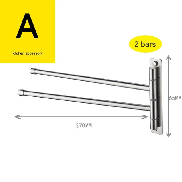 Free Shipping Brushed Nickel Stainless Steel Self Adhesive Swivel Towe