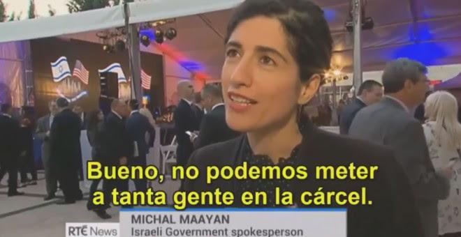 La portavoz del gobierno israelí Michal Maayan.