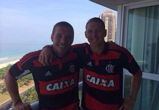 Os jogadores alemães posaram na varada de hotel na Barra da Tijuca