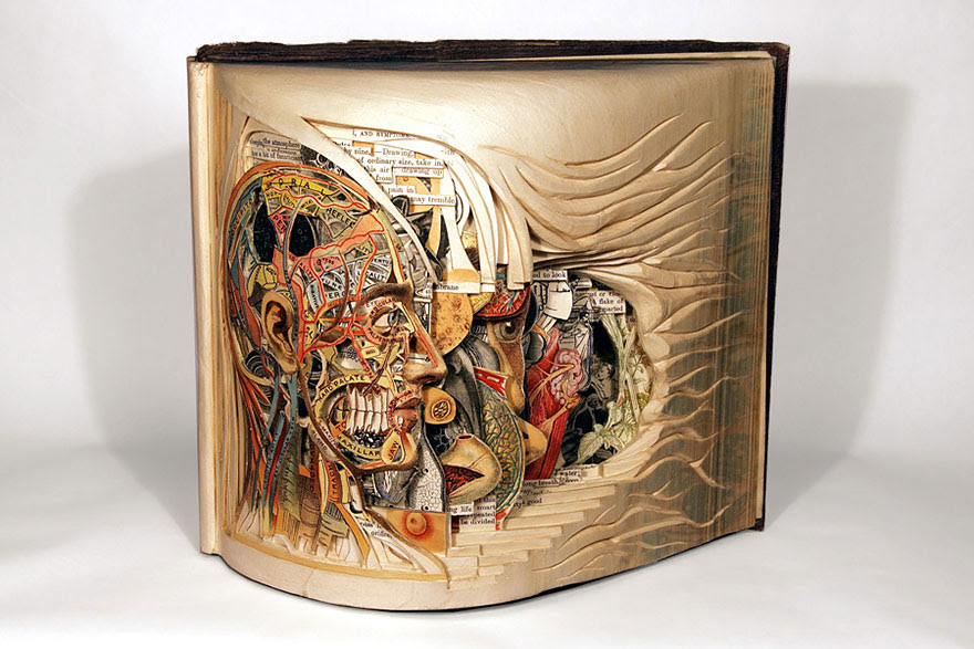 Old Books Carved With Surgical Tools