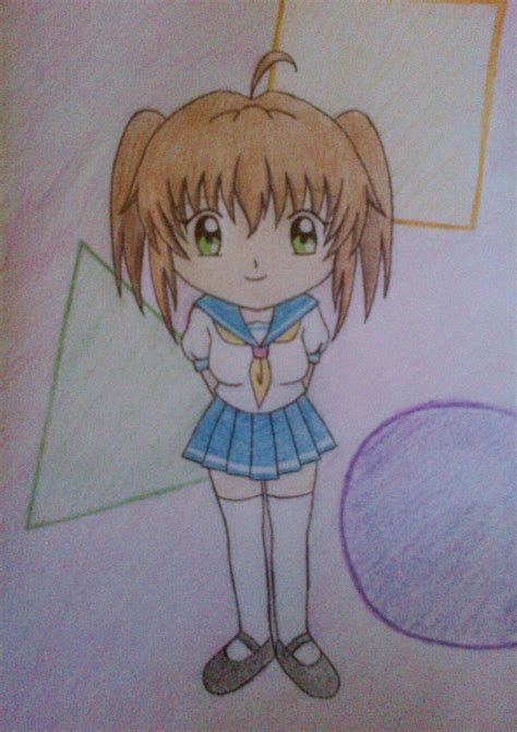 chibi school girl anime drawing fan art  fanpop