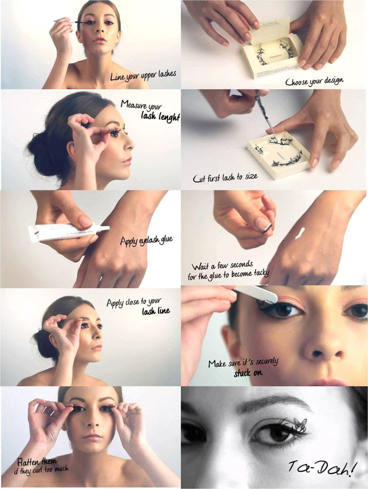 paperself lashes make up tutorial