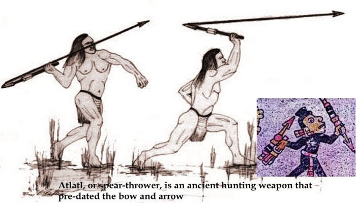 Atlatl spear thrower - Aztec Symbol