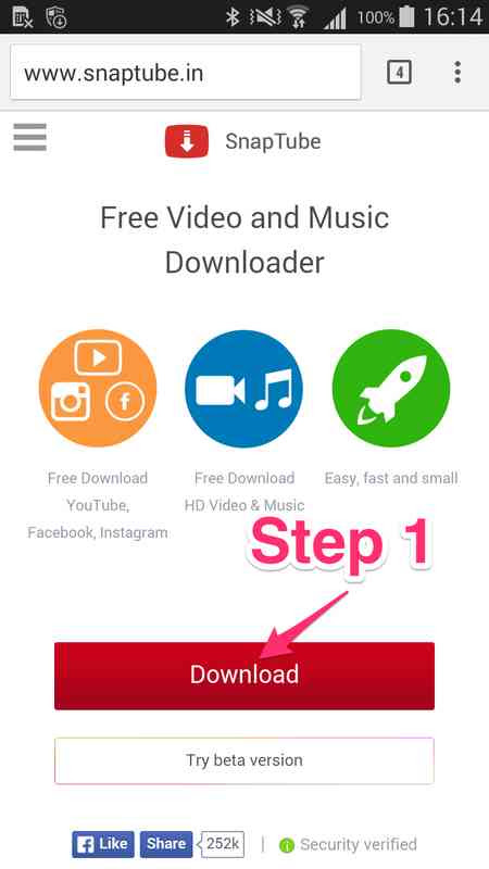 how to download SnapTube
