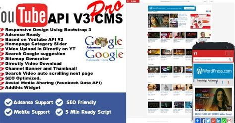 youtube api  cms pro latest tips tricks