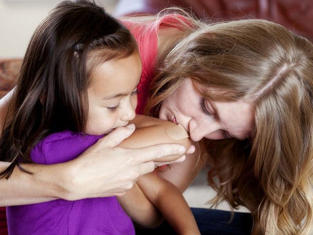 Резултат с изображение за mother kissing a wound