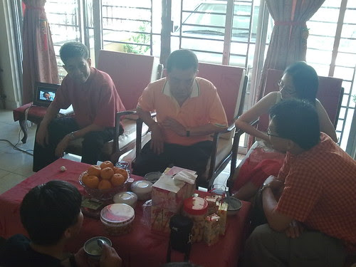 First day of Chinese New Year, family gathering at uncle's house 3