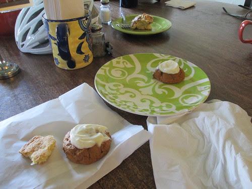 Bonus pastries! They liked us!