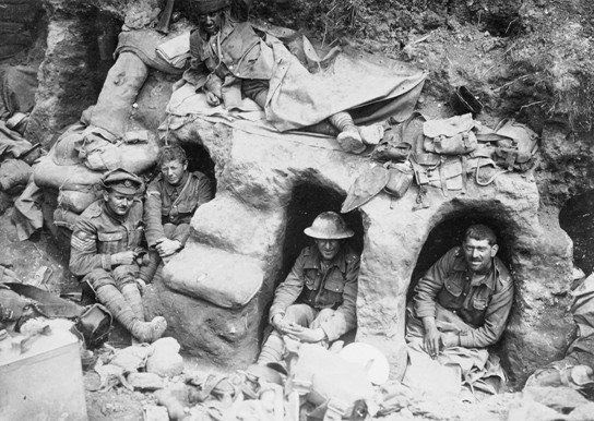 The daily routine of life in the trenches began with the morning ...