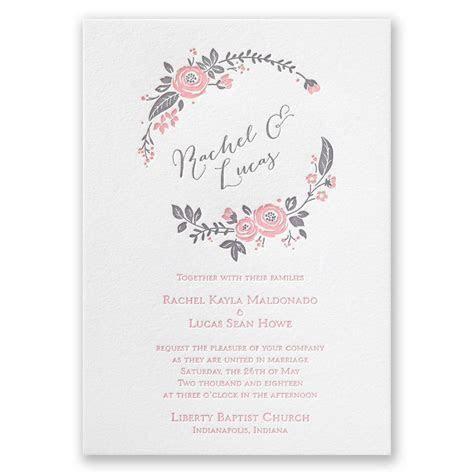 Pretty Perfect Letterpress Invitation   Invitations By Dawn