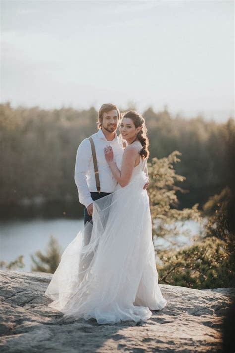 Surprise Cliffside Elopement in Upstate New York   Junebug