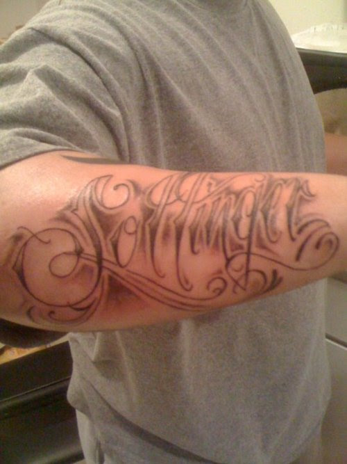 Forearm Name Tattoo Ink Design Tattoomagz
