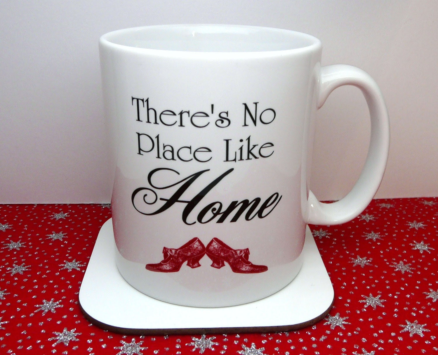 Wizard Of Oz Mug, There's No Place Like Home, Red Ruby slippers, Cup, UK - missbohemia