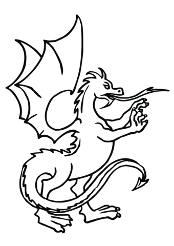 Ausmalbild Aufgerichteter Drachen Ausmalbilder Kostenlos Zum Ausdrucken
