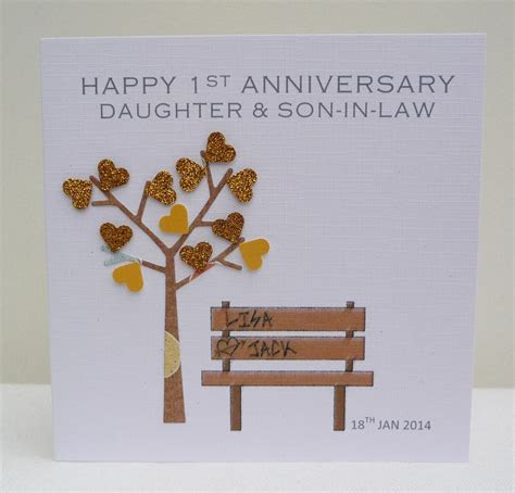Personalised 1st Anniversary Card   Any Anniversary