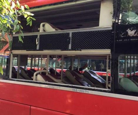 Hình ảnh Xe khách bị ném đá, hàng chục hành khách hoảng loạn số 1