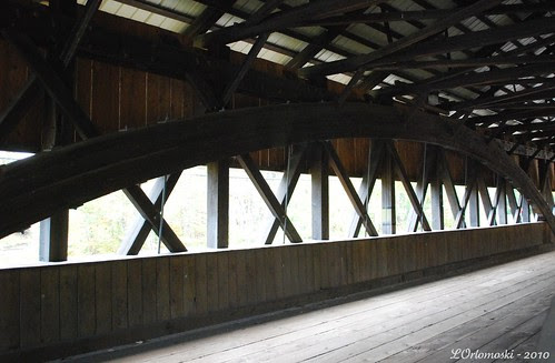 Paddleford Truss Design Inside Jackson Covered Bridge