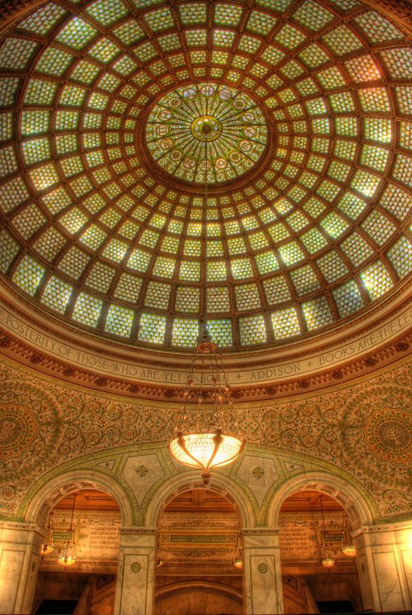 Chicago Cultural Center dome by spudart on deviantART