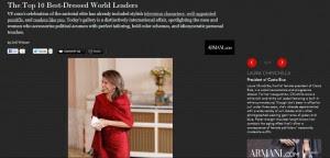 Laura Chinchilla figura entre la lista de líderes mundiales mejor vestidos.