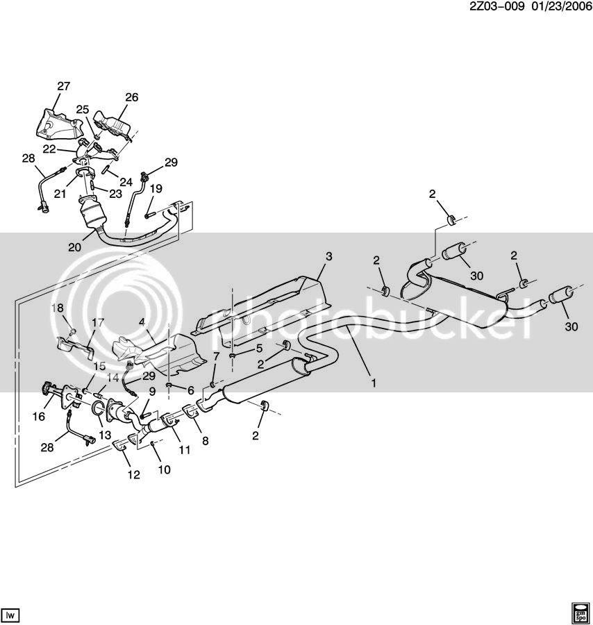 2008 Pontiac G6 Exhaust System Diagram