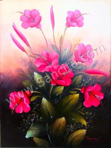Ide 66 Lukisan Bunga Kembang Sepatu