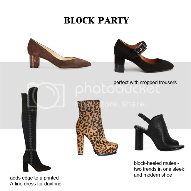 Block Heel Shoe Trend 2016
