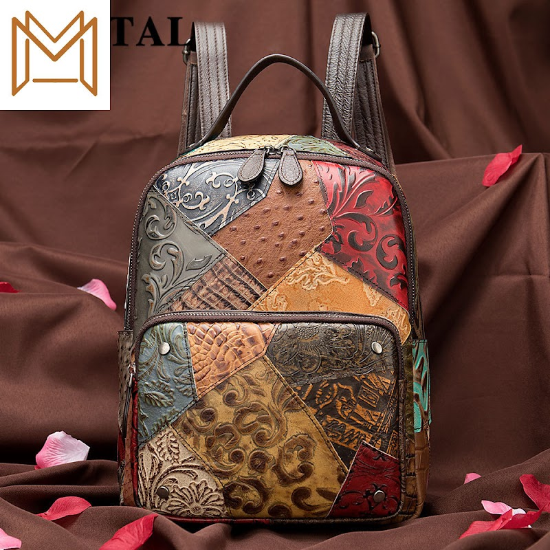 Cheap 2019 Woman Layer Cowhide Women's Both Shoulders Package Color Manual Genuine Leather Capacity Backpack