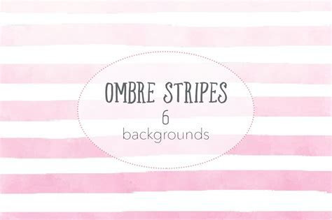 Ombre watercolor stripes ~ Graphics ~ Creative Market