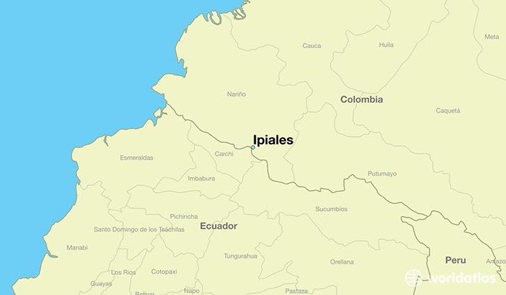Where Is Ipiales Colombia Ipiales Narino Map