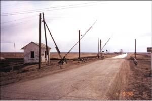 Entrada sin vigilancia a Semipalatinsk 21 en 1998