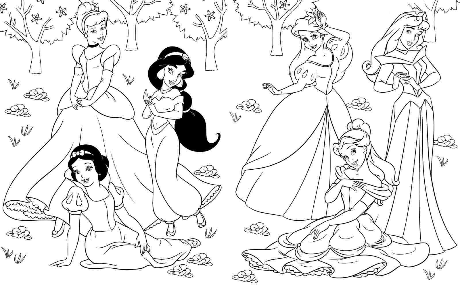 Free Printable Coloring Pages Of Princesses Coloring And Drawing