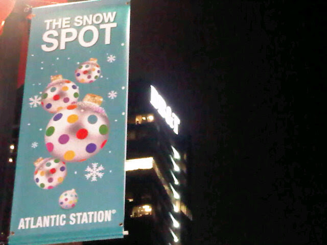 effect specialist designed and provides the snow machine effects for atlantic Station yearly snow event