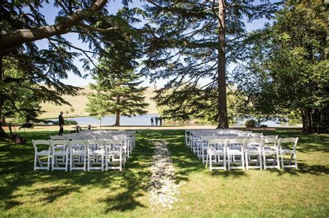 Wedding ceremony setup at Bendooley Estate, Southern