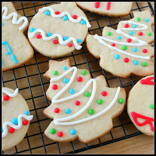 Christmas Vanilla Cookie Sq