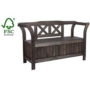 gartenbank truhenbank mit kiste stauraum f r polsterauflagen oder sitzauflagen wetterfest. Black Bedroom Furniture Sets. Home Design Ideas