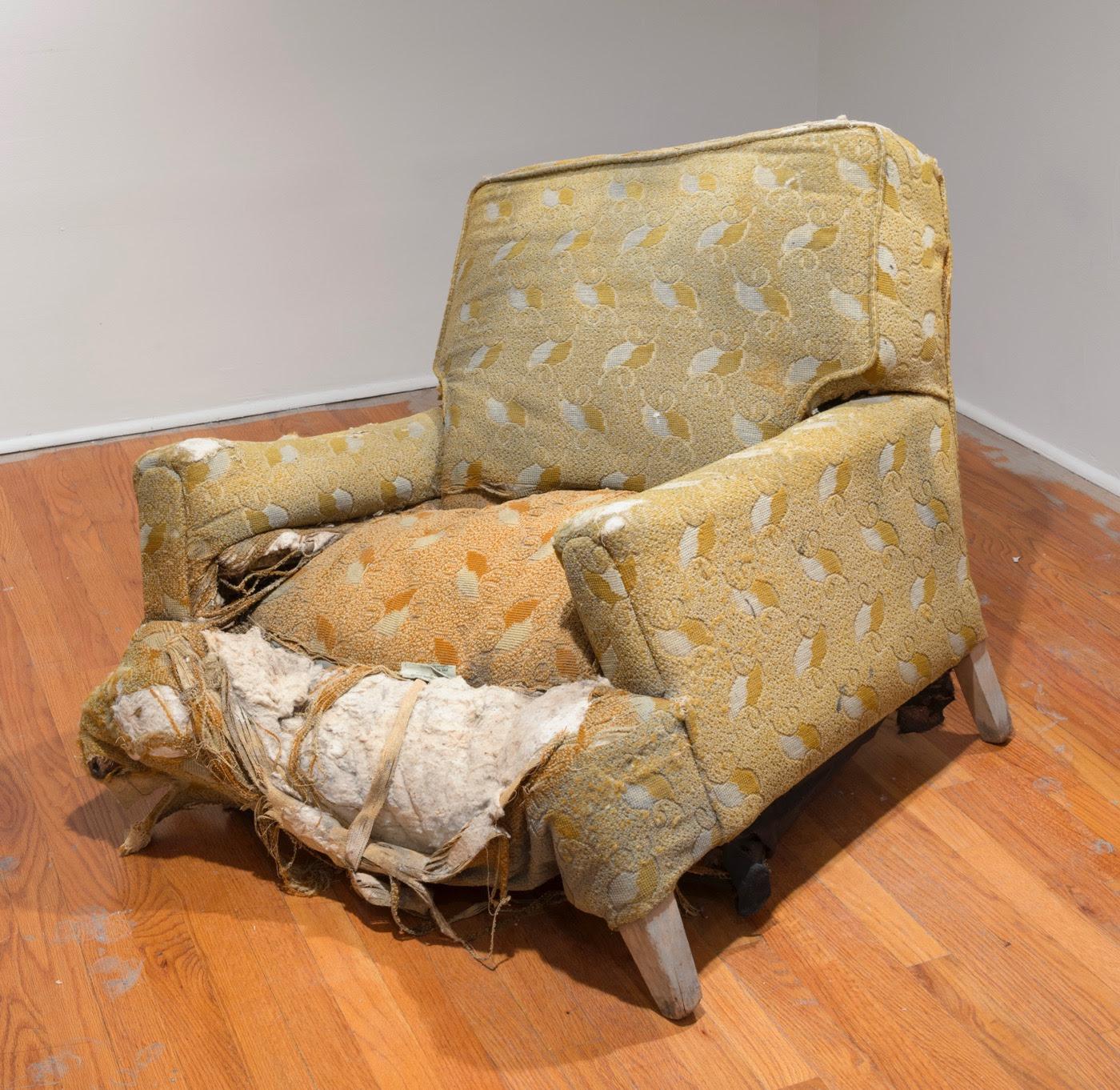 """Rodney McMillian, """"Chair"""" (installation view), 2003. Photo: Adam Reich"""