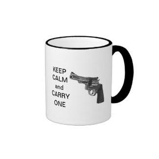 Keep Calm And Carry One (handgun) mug